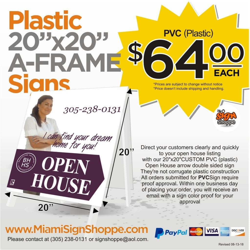 Open House Signs | The Sign Shoppe
